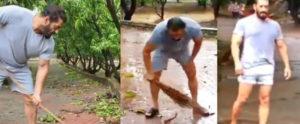 Salman Khan Sweepinh