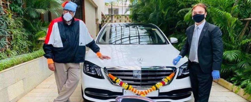 Amitabh with new car