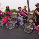 আজ ভ্যালেন্টাইন ডে-তে মহিলাদের স্বনির্ভর করার লক্ষ্যে  সাইকেল র্যালি নয়ডা পুলিশের