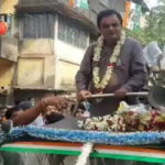 দোলের দিন বর্ণাঢ্য শোভাযাত্রা করে দক্ষিণ দমদমে ভোট প্রচার করলেন ব্রাত্য বসু