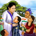 হ্যাটট্রিক: টানা তৃতীয়বার মুখ্যমন্ত্রী হিসাবে শপথ নিলেন মমতা
